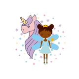 Cute little fairy character. Illustration design Stock Photography