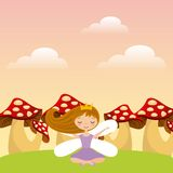 Cute little fairy character. Illustration design Royalty Free Stock Photo