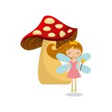 Cute little fairy character. Illustration design Royalty Free Stock Images