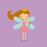 Cute little fairy character. Illustration design Stock Images