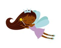 Cute little fairy character. Illustration design Royalty Free Stock Image