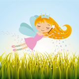 Cute little fairy character. Illustration design Stock Image