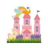 Cute little fairy character. Illustration design Royalty Free Stock Photography