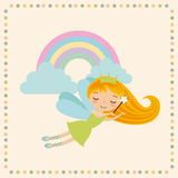 Cute little fairy character Royalty Free Stock Image
