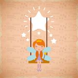 Cute little fairy character Royalty Free Stock Photos