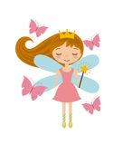 Cute little fairy character. Illustration design Stock Photos