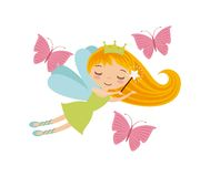 Cute little fairy character Royalty Free Stock Photography
