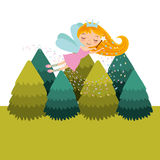 Cute little fairy character Stock Images