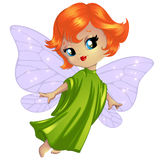 Cute little fairy. Flies above Royalty Free Stock Images