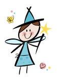 Cute little fairy girl Royalty Free Stock Photo