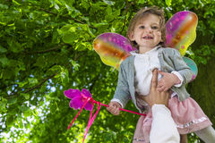 Cute little fairy girl Royalty Free Stock Image