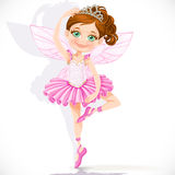 Cute little fairy girl in pink tutu and tiara Stock Photo