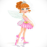 Cute little fairy girl in tiara Royalty Free Stock Photography
