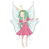Cute little fairy. Royalty Free Stock Photo