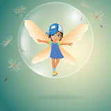 Cute little fairy Stock Image