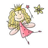 Cute little fairy, sketch for your design Stock Photo