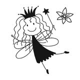 Cute little fairy, sketch for your design Royalty Free Stock Image