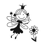 Cute little fairy, sketch for your design Stock Image