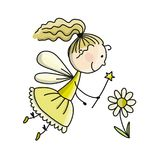 Cute little fairy, sketch for your design Royalty Free Stock Photos