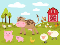 Cute little farm Stock Images