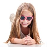 Cute little fashion girl Stock Images