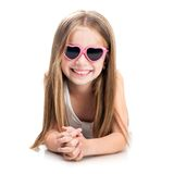 Cute little fashion girl Royalty Free Stock Images