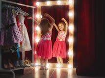 Cute little fashionista stock photo