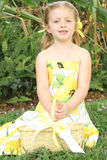 Cute little flower girl Stock Image