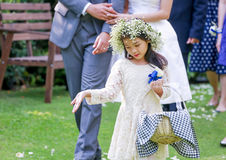 Cute little flower girl Stock Photography