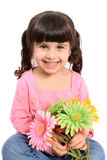 Cute little four year old girl Stock Images