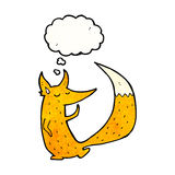 cute little fox cartoon Royalty Free Stock Image