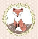 Cute little fox illustration for children. vector illustration