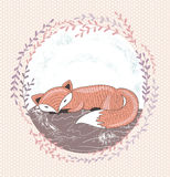 Cute little fox illustration Stock Photo