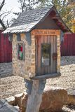Little Free Library Set In Stone Stock Image