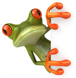 Cute little frog. Waving, saying hello 3D generated vector illustration