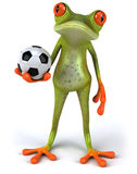 Frog and football Royalty Free Stock Photo