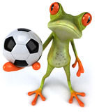 Frog and football Royalty Free Stock Photography