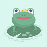 Cute little frog. Royalty Free Stock Photography