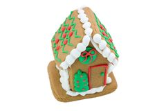 Cute little gingerbread house Stock Photos