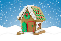 Cute little gingerbread house Royalty Free Stock Photography