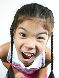 Cute little girl 006. Cute little asian girl on white background series Stock Images