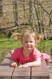 Cute Little Girl. In the Park Royalty Free Stock Image