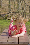 Cute Little Girl. In the Park Stock Image