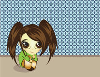 Cute Little Girl vector illustration