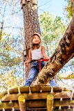 Cute little girl in the Adventure Park Stock Photography