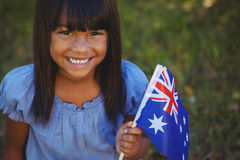Cute little girl with australian flag Royalty Free Stock Photo