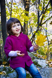 Cute little girl in autumn Royalty Free Stock Images