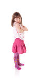 Sulky little girl Stock Images