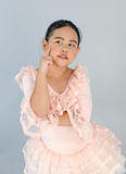 Cute little girl in ballet dress. Stock Photos