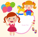 Cute little girl with balloons Royalty Free Stock Photography